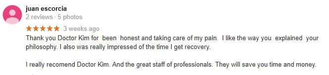 good chiropractor review salinas