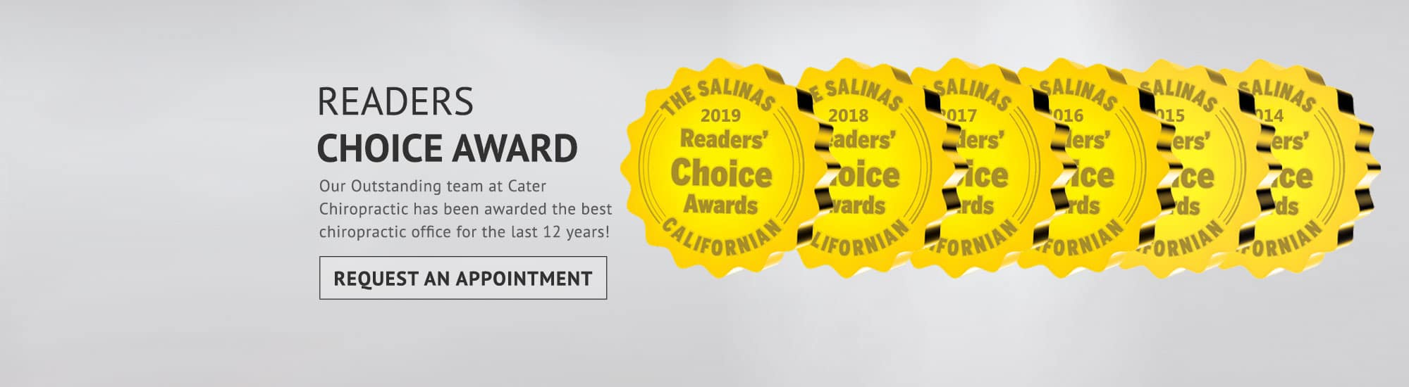 Chiropractic Salinas CA Readers Choice Award 12 Years