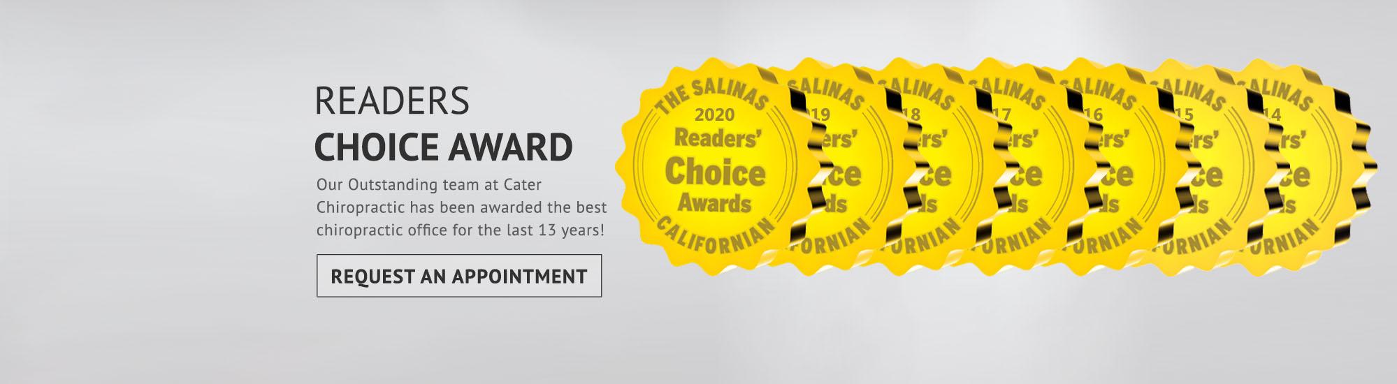 Chiropractic Salinas CA Readers Choice Award 13 Years
